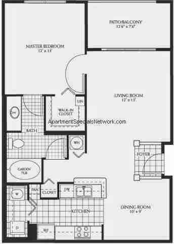 coral springs apartment rental cs139 1 bedroom floor plans