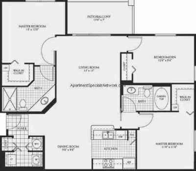Attractive 3 Bedroom 3 Bathroom Apartments Coral Springs Apartment Rental Cs139   3  Bedroom Floor Plans