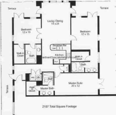 Boca Raton Apartment Rental Br155 3 Bedroom Floor Plans
